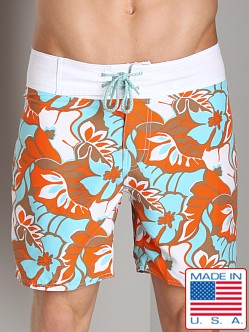 Sauvage Retro Hawaii Surf Short Multicolor