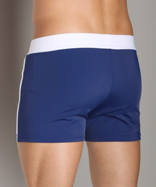 Sauvage Retro Nylon/Lycra Swim Short Navy