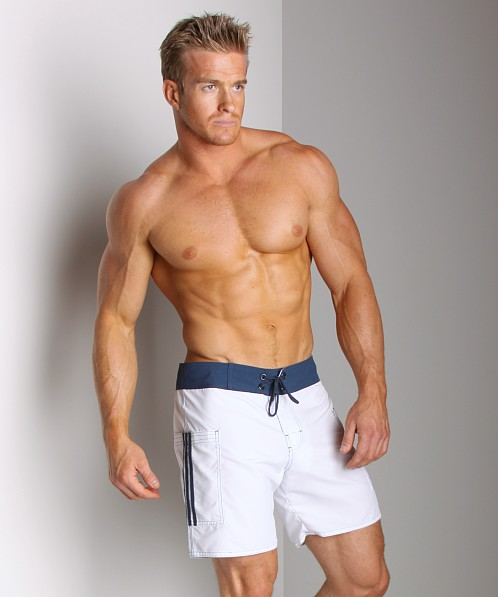 Sauvage Pocketed Board Shorts White/Navy