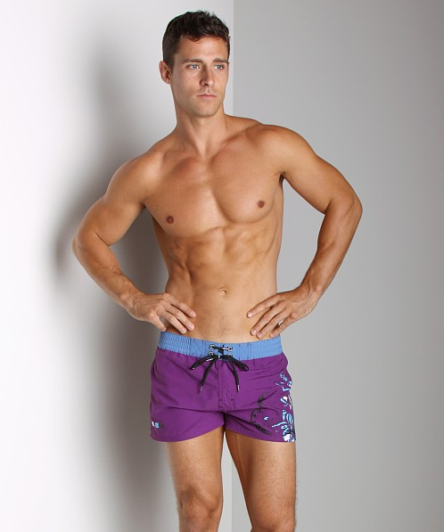 Diesel Coralrif Floral Swim Shorts Purple