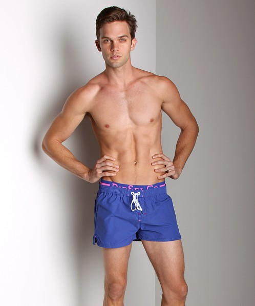 Diesel Barrely Logo Swim Shorts Royal