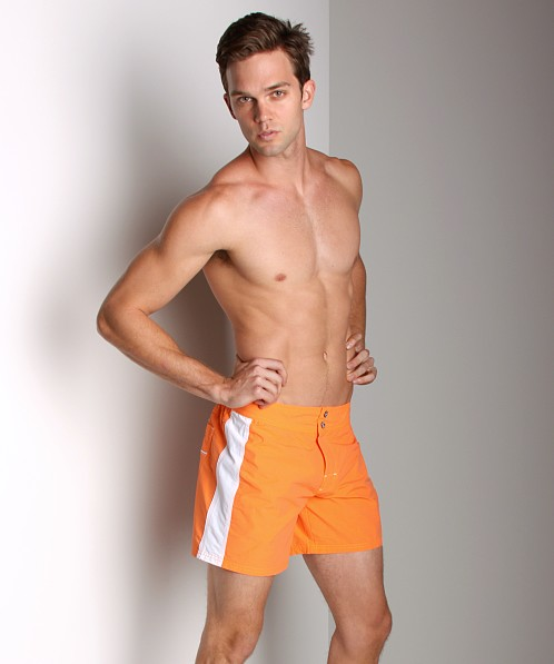 Diesel Blans Logo Swim Shorts Orange
