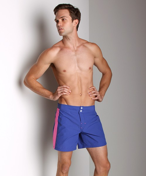 Diesel Blans Logo Swim Shorts Royal
