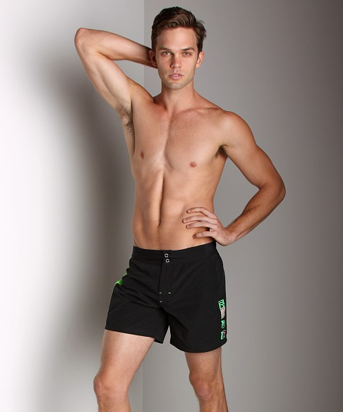 Diesel Blans Logo Swim Shorts Black