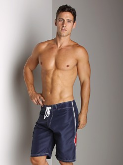 Tulio Stripe Splice Surf Short Navy