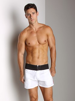 Tulio Neoprene Waistband Swim Short White