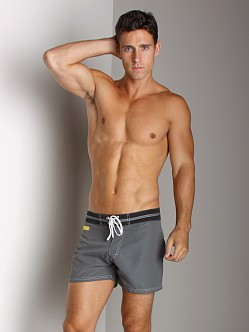 Tulio Striped Waistband Surf Short Grey
