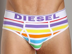 Diesel Rainbow Striped Blade Brief White