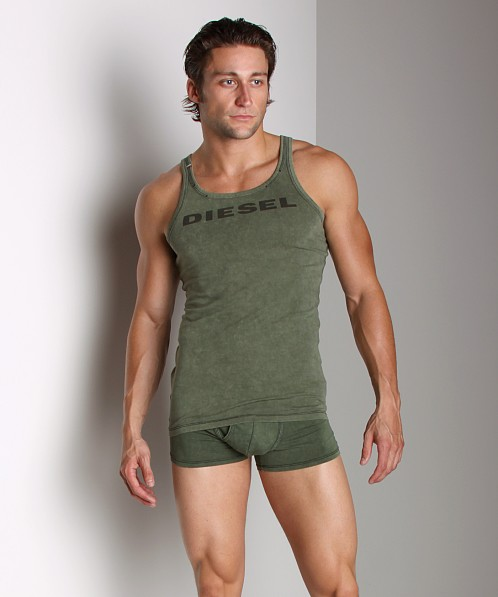 Diesel Enzyme Wash Tod Tank Top Military