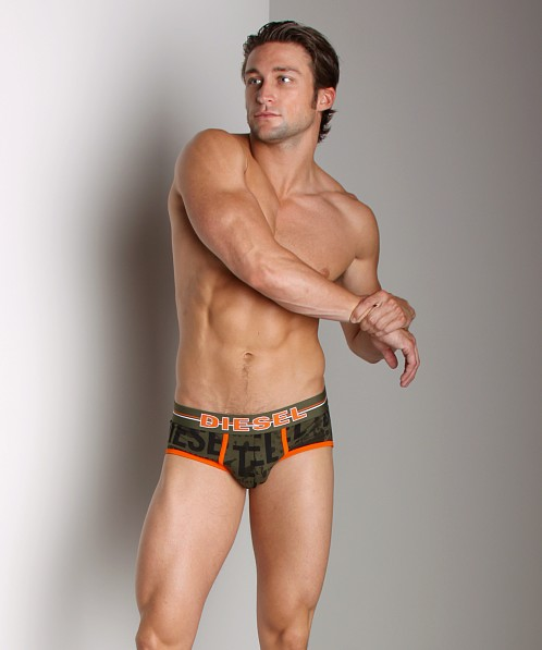 Diesel All Over Print Vince Hip Brief Military
