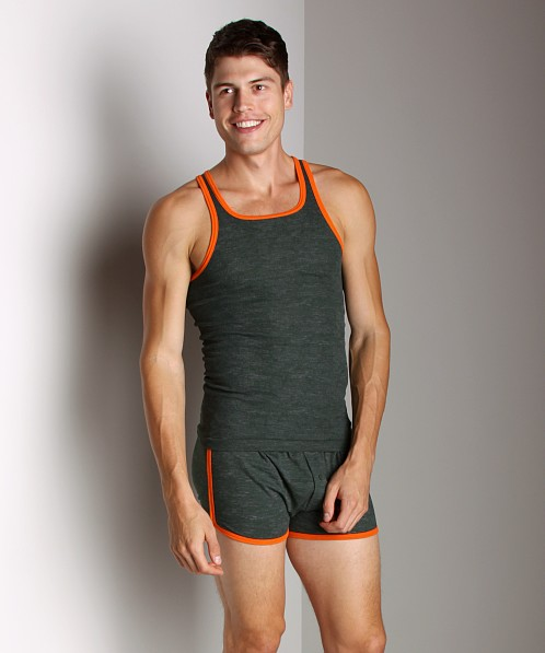 C-IN2 Hand Me Down Ringer Tank Top Hurricane Green