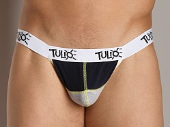 Tulio Power Pouch Contrast Stitch Thong Navy