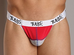 Tulio Power Pouch Contrast Stitch Thong Red