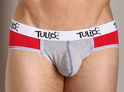 Tulio Power Pouch Contrast Stitch Sport Brief Red