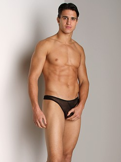 Tulio Power Pouch Mesh Enhancing Thong Black
