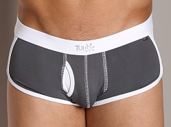 Tulio Faux Fly Supplex Retro Swim Trunk Grey