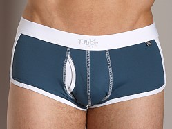 Tulio Faux Fly Supplex Retro Swim Trunk Teal