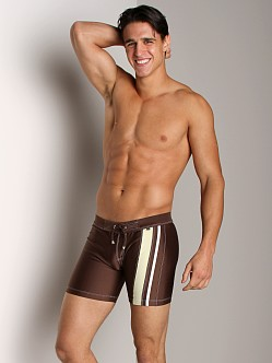 Tulio Scube Side Stripe Jammer Brown