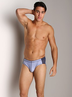Tulio Contrast Swim Brief with Mesh Back Panel Powder/Navy