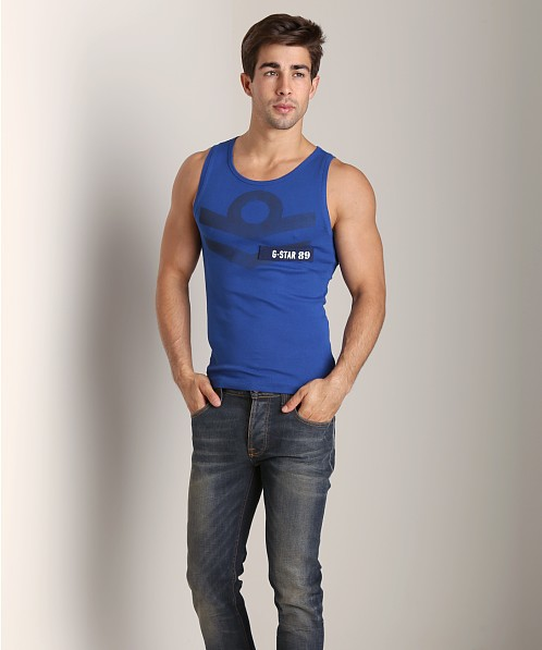G-Star Aye Cool Rib Tank Top Deep Blue