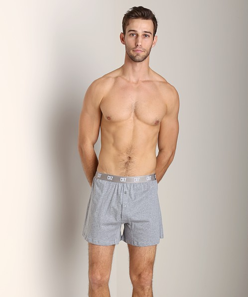 Cristiano Ronaldo CR7 100% Cotton Boxer 3-Pack Grey