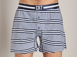 Cristiano Ronaldo CR7 Fashion Cotton Boxer Stripe Navy