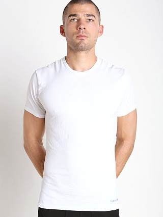 Calvin Klein Launch Air FX Micro Crew Neck T Shirt White
