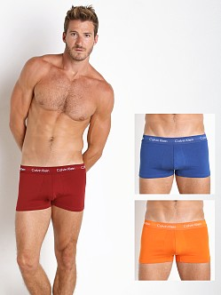 Calvin Klein Cotton Stretch 3-Pack Low Rise Trunk Vermillion
