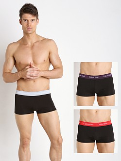 Calvin Klein Cotton Stretch 3-Pack Low Rise Trunk Black