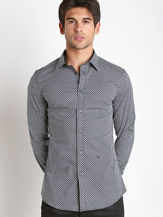 Complete the look: Diesel S-Leppard Stretch Popeline Shirt Grey