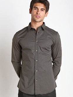 Diesel S-Leppard Stretch Popeline Shirt Dark Grey