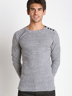 Diesel T-Cosmal Micro Waffle Sweater Charcoal