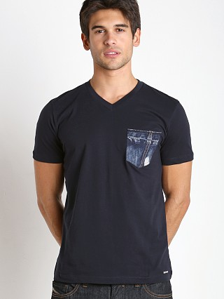 Complete the look: Diesel T-Bascon Cotton Jersey Shirt Navy