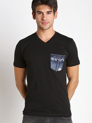 Complete the look: Diesel T-Bascon Cotton Jersey Shirt Black