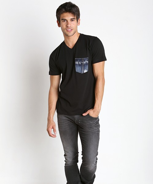 Diesel T-Bascon Cotton Jersey Shirt Black