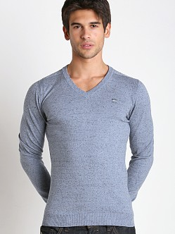 Diesel K-Benti Cotton Stretch Sweater Blue