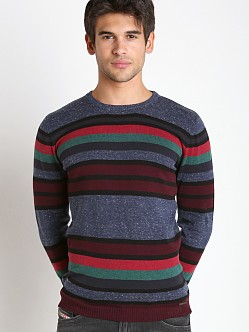 Diesel K-Calib-B Solid Stripes Sweater Blue