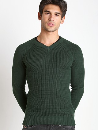Diesel K-Sosty Solid Stripes Sweater Olive