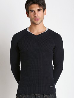 Diesel K-Sosty Solid Stripes Sweater Blue