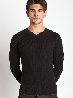 Diesel K-Sosty Solid Stripes Sweater Black
