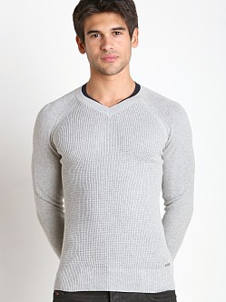 Diesel K-Sosty Solid Stripes Sweater Grey