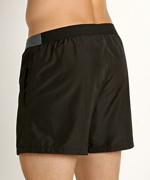 "GrigioPerla Solid 13"" Swim Shorts Black"