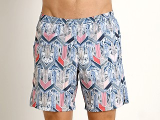 Model in st. deco multicolor GrigioPerla Deco Swim Shorts