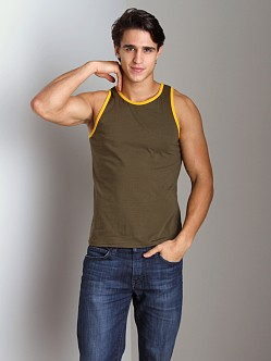 Go Softwear California Style Tank Top Olive/Mango