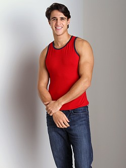 Go Softwear California Style Tank Top Red/Navy