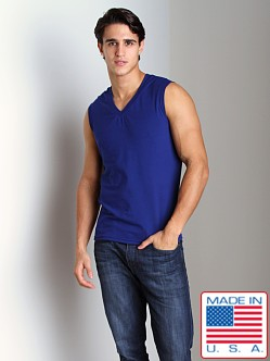 Go Softwear California Style V-Neck Muscle Shirt Blueberry