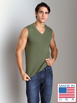 Go Softwear California Style V-Neck Muscle Shirt Olive