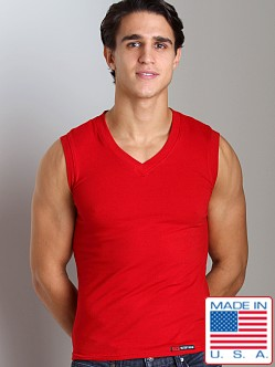 Go Softwear California Style V-Neck Muscle Shirt Red