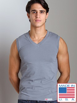 Go Softwear California Style V-Neck Muscle Shirt Grey