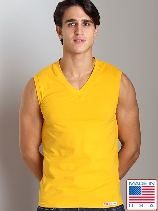Go Softwear California Style V-Neck Muscle Shirt Mango